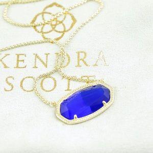 Kendra Scott Delaney Necklace cobalt blue gold